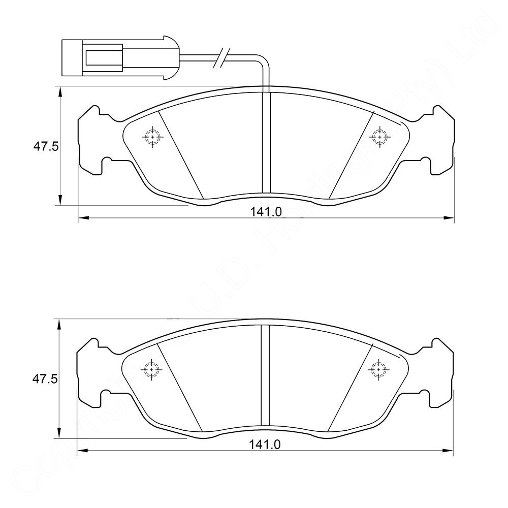 KBC Brake Pads (front) for Peugeot,Opel 1