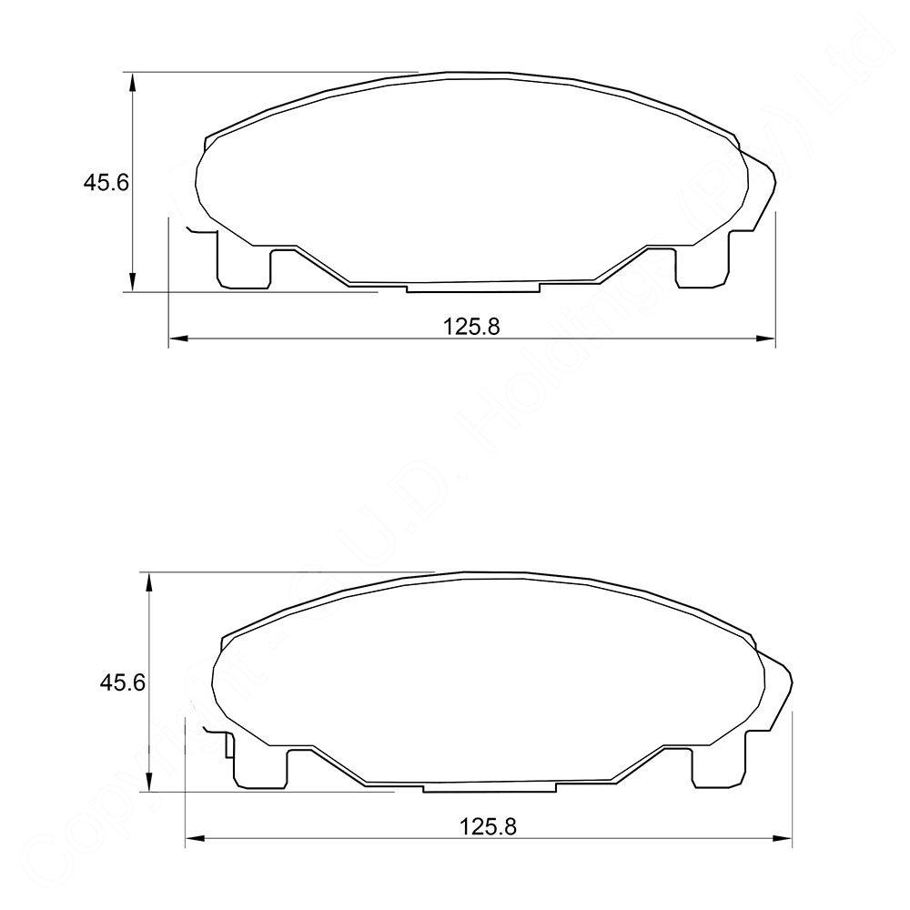 KBC Brake Pads (front) for Daihatsu 1