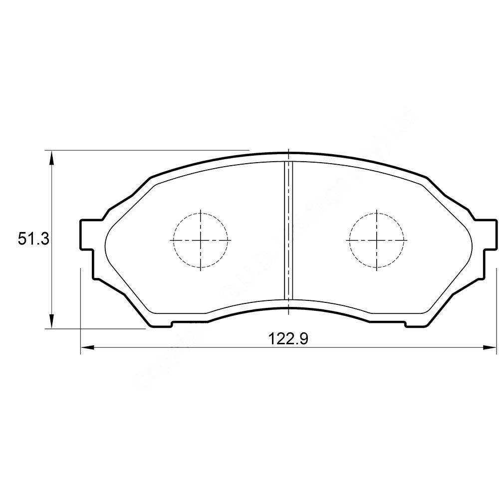 KBC Brake Pads (Front) for Mazda Etude, Opel Corsa 1