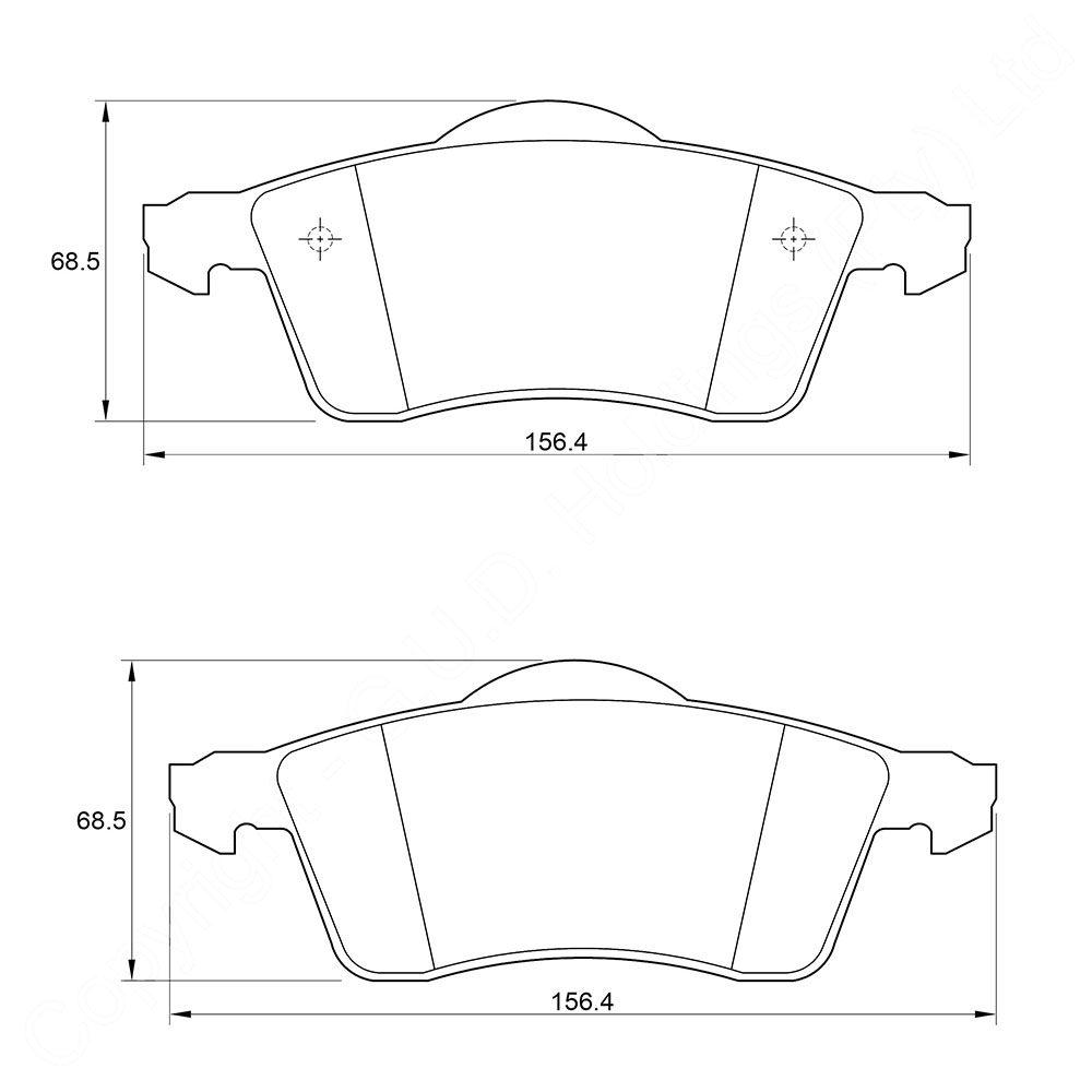 KBC Brake Pads (front) for Volkswagen Caravelle,Volkswagen Passat 1