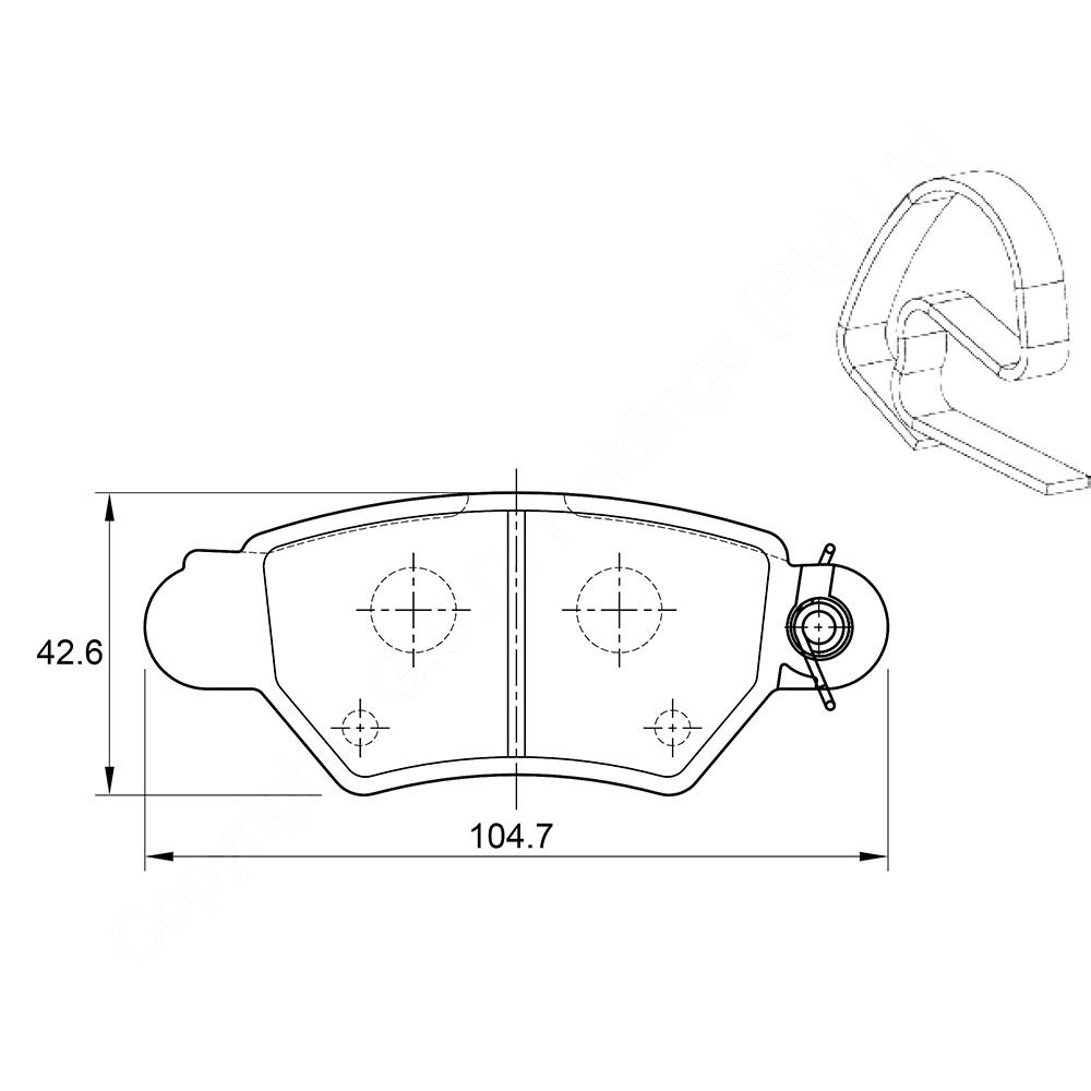 KBC Brake Pads (front) for Opel Zafira, Opel Classic,Opel Astra 1