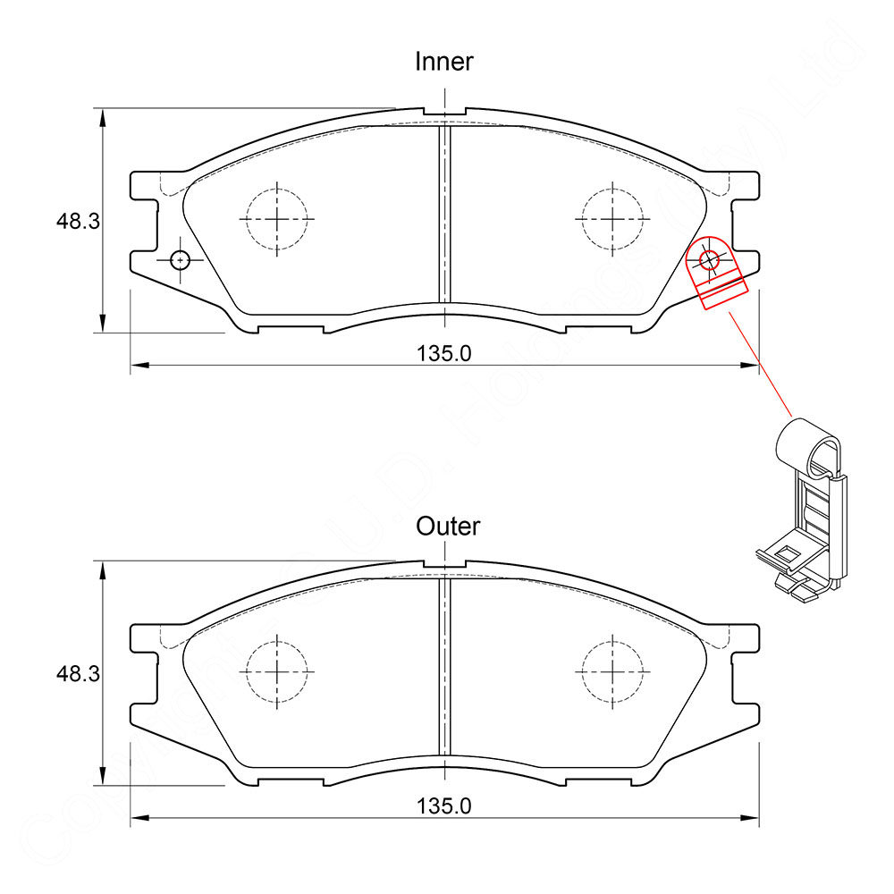 KBC Brake Pads (front) for Nissan Almera 1