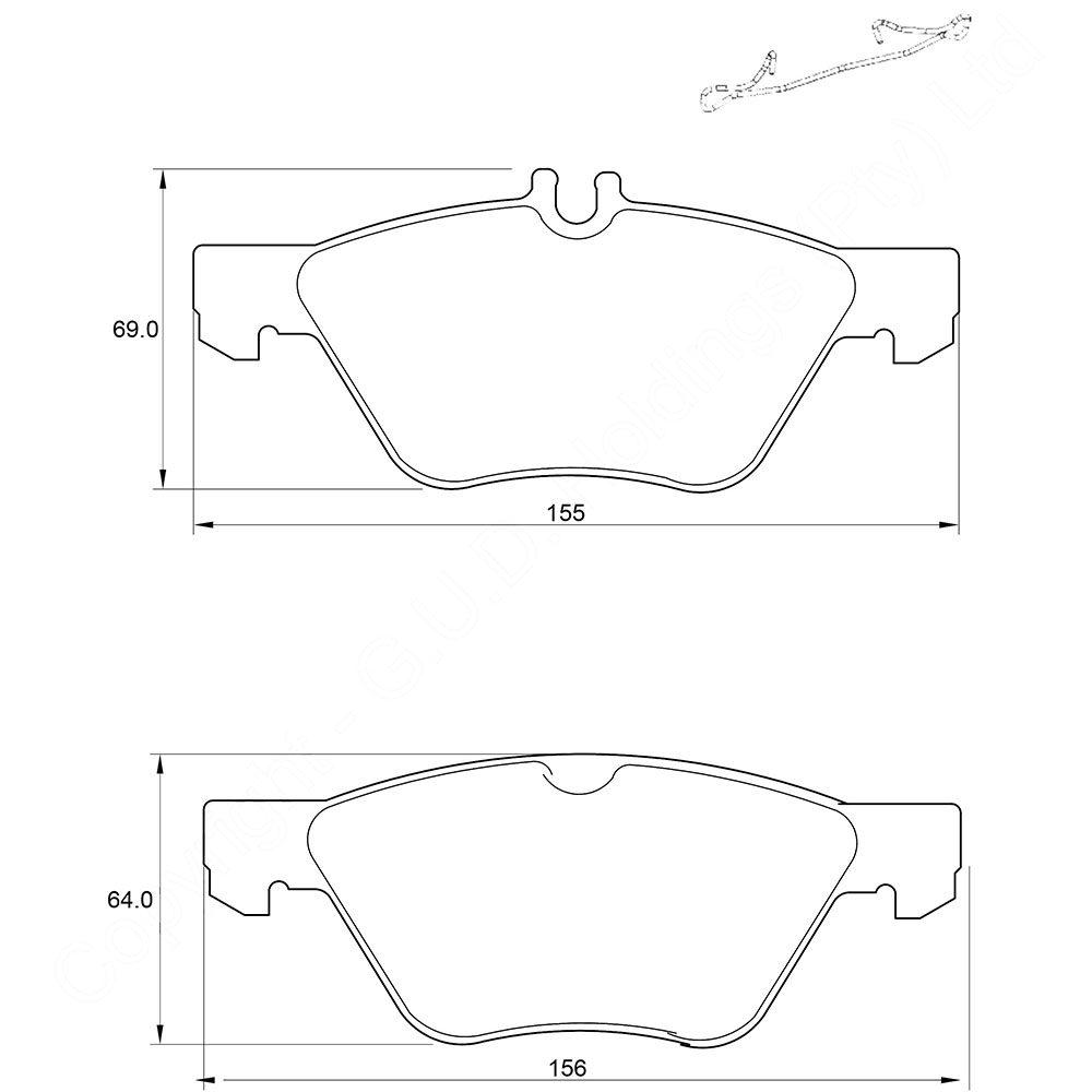 KBC Brake Pads (front) for Mercedes Benz 1