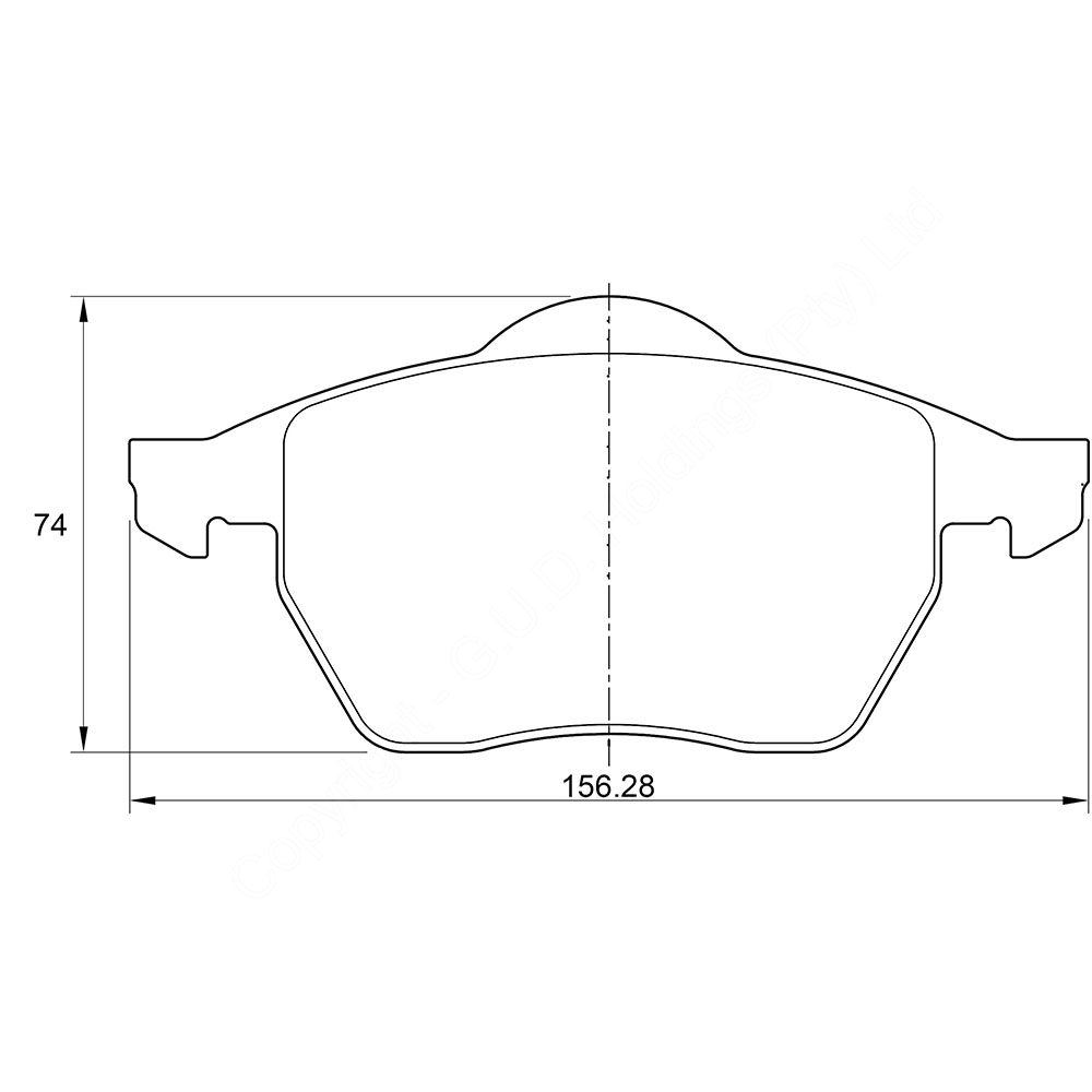 KBC Brake Pads (front) for Audi S4 1