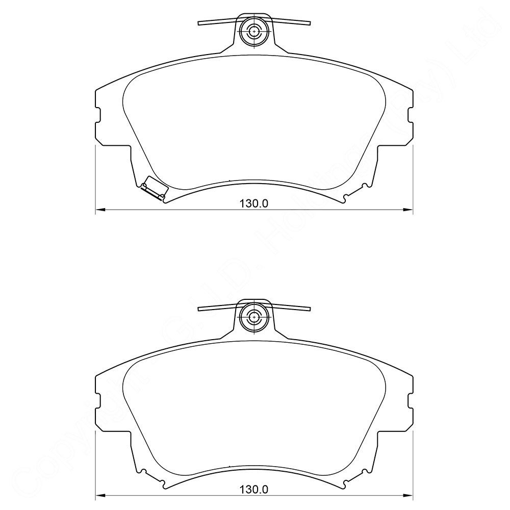 KBC Brake Pads (front) for Volvo 1