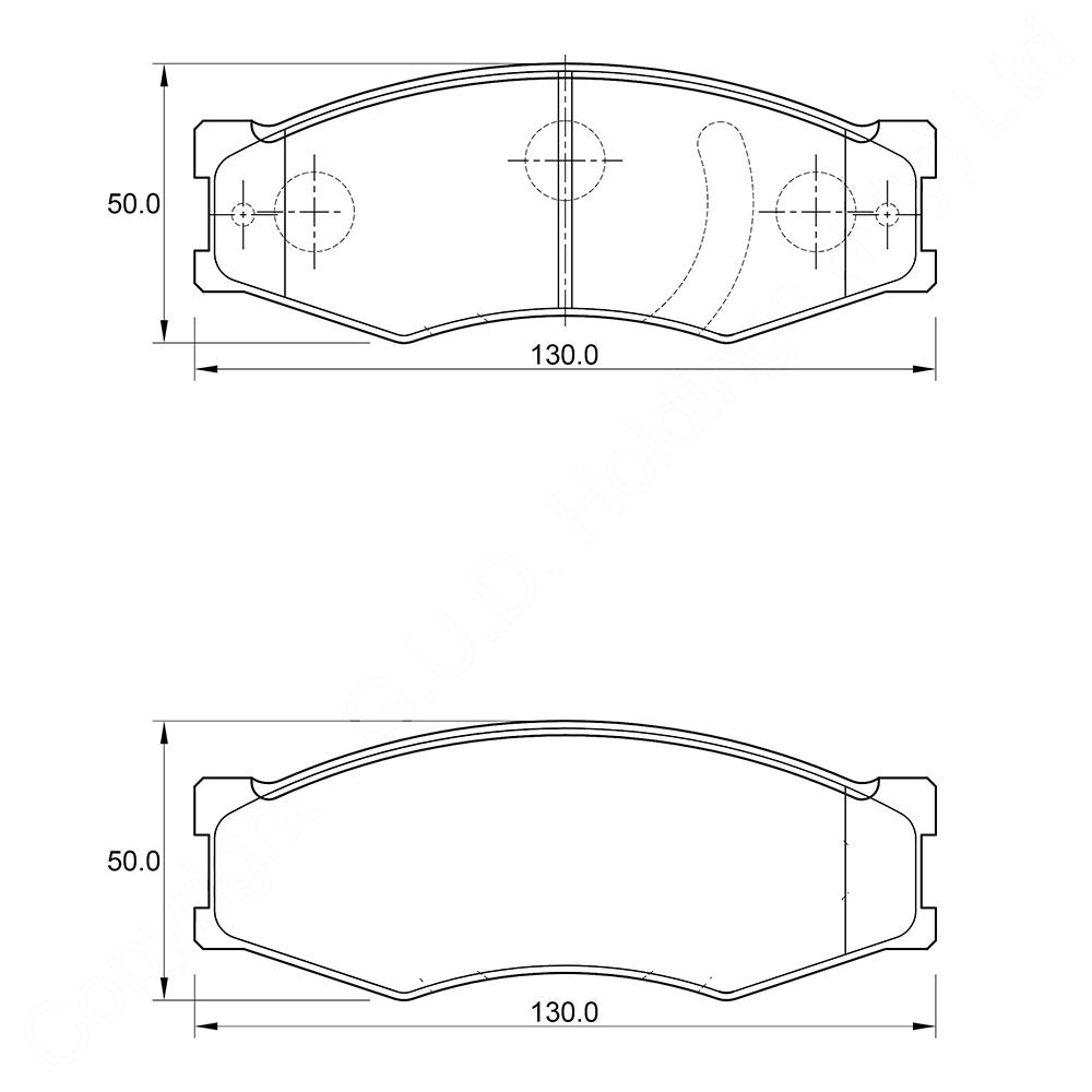 KBC Brake Pads (front) for Ranger 1