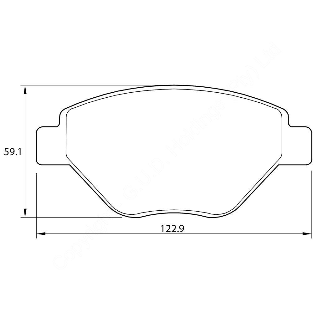 KBC Brake Pads (front) for Daewoo Tacuma 1