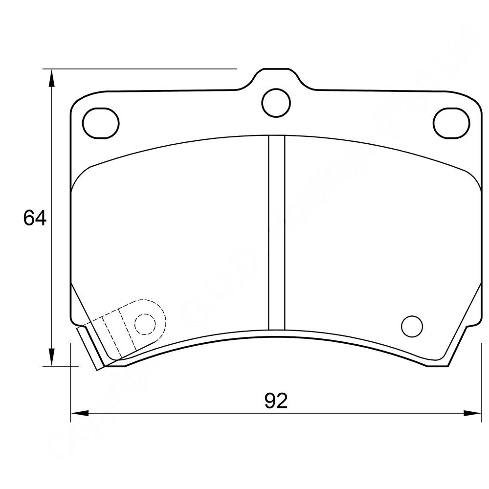 KBC Brake Pads (front) for Kia Rio 1