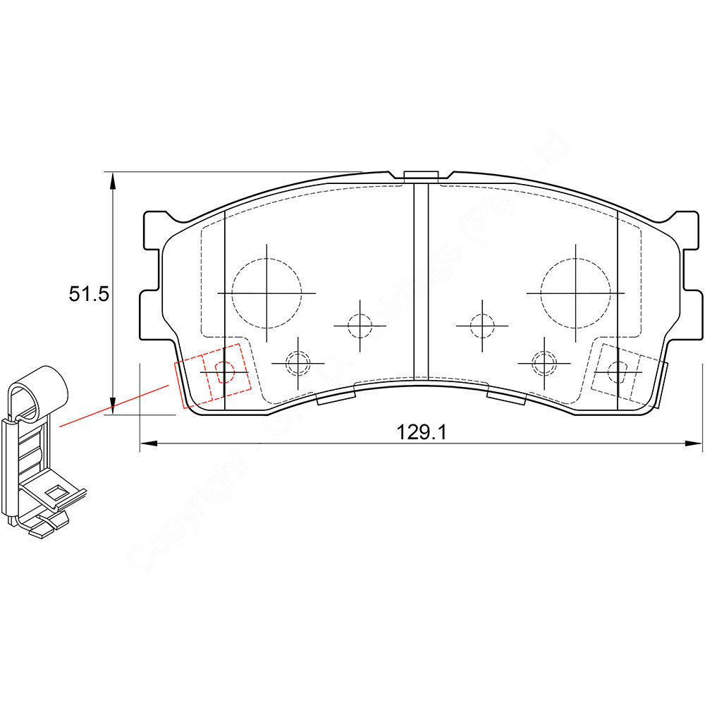 KBC Brake Pads (front) for Kia Spectra Fits these models: Kia Spectra LS (All models), 2001 1