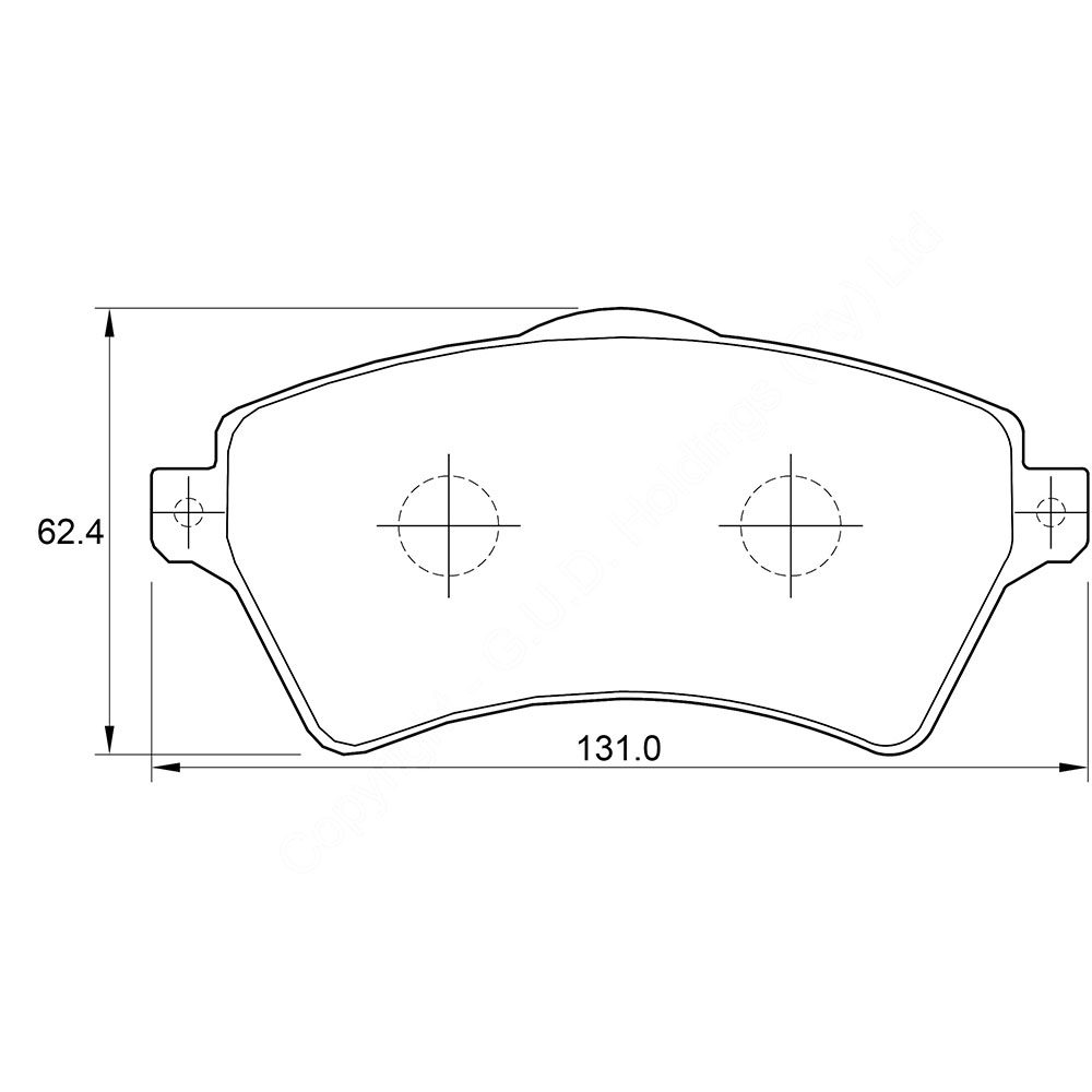 KBC Brake Pads (front) for Landrover 1