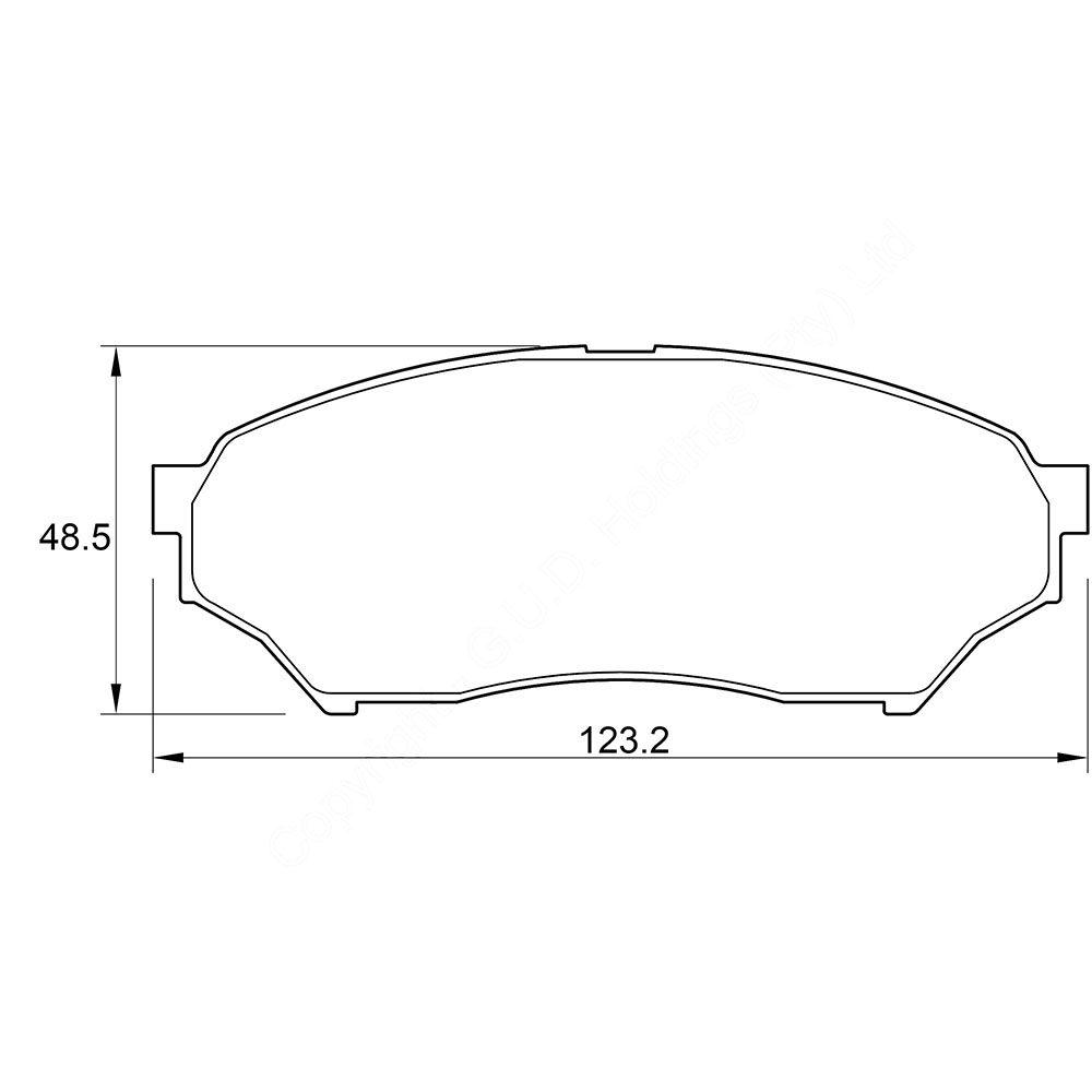 KBC Brake Pads (front) for Mitsubishi Pajero 1