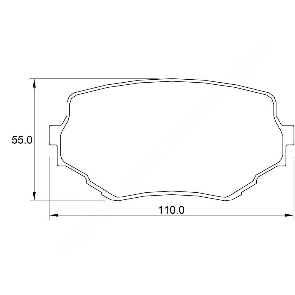 KBC Brake Pads (front) for Suzuki Vitara 1