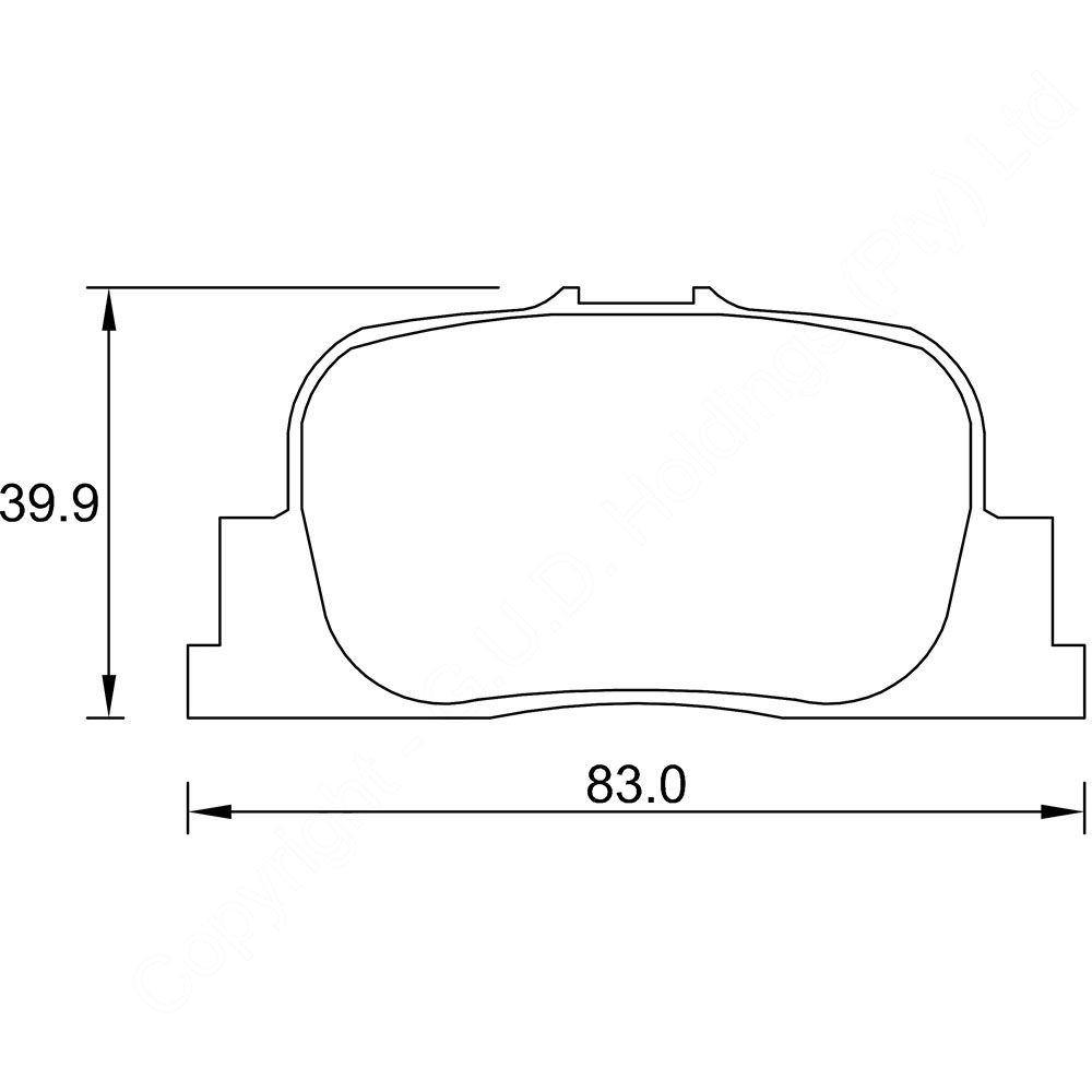 KBC Brake Pads (front) for Toyota Camry 1