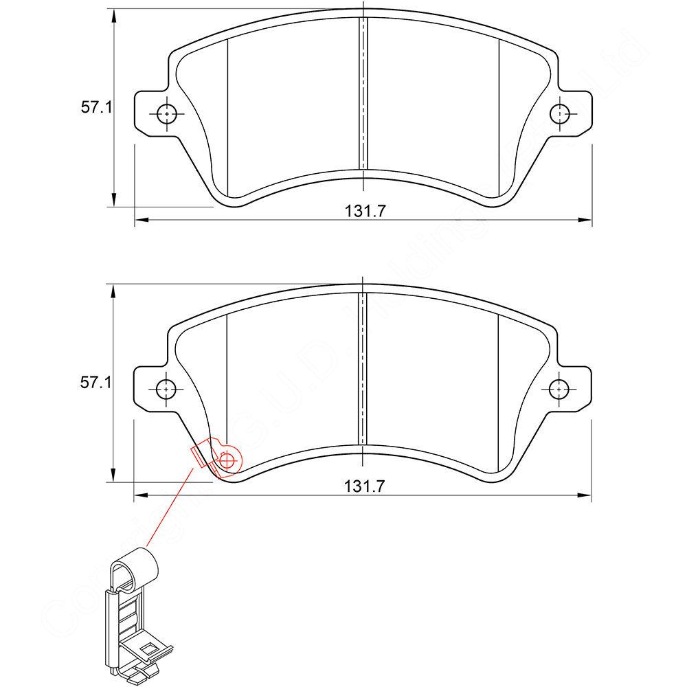 KBC Brake Pads (Front) for Toyota Corolla, RunX, Opel, Mazda 1