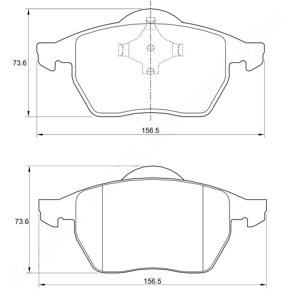 KBC Brake Pads (front) for Audi,Volkswagen 1