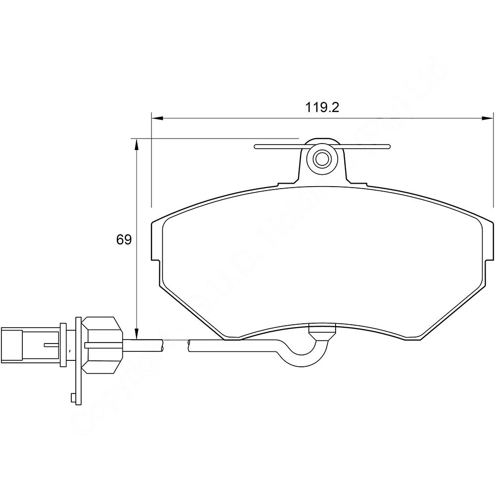 KBC Brake Pads (front) for Audi,Volkswagen 1