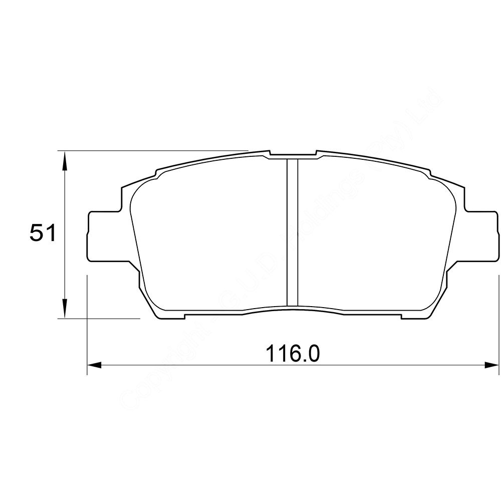KBC Brake Pads (front) for Toyota MR 1