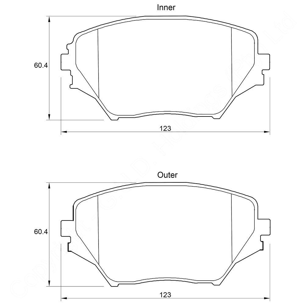 KBC Brake Pads (front) for Toyota Rav 1