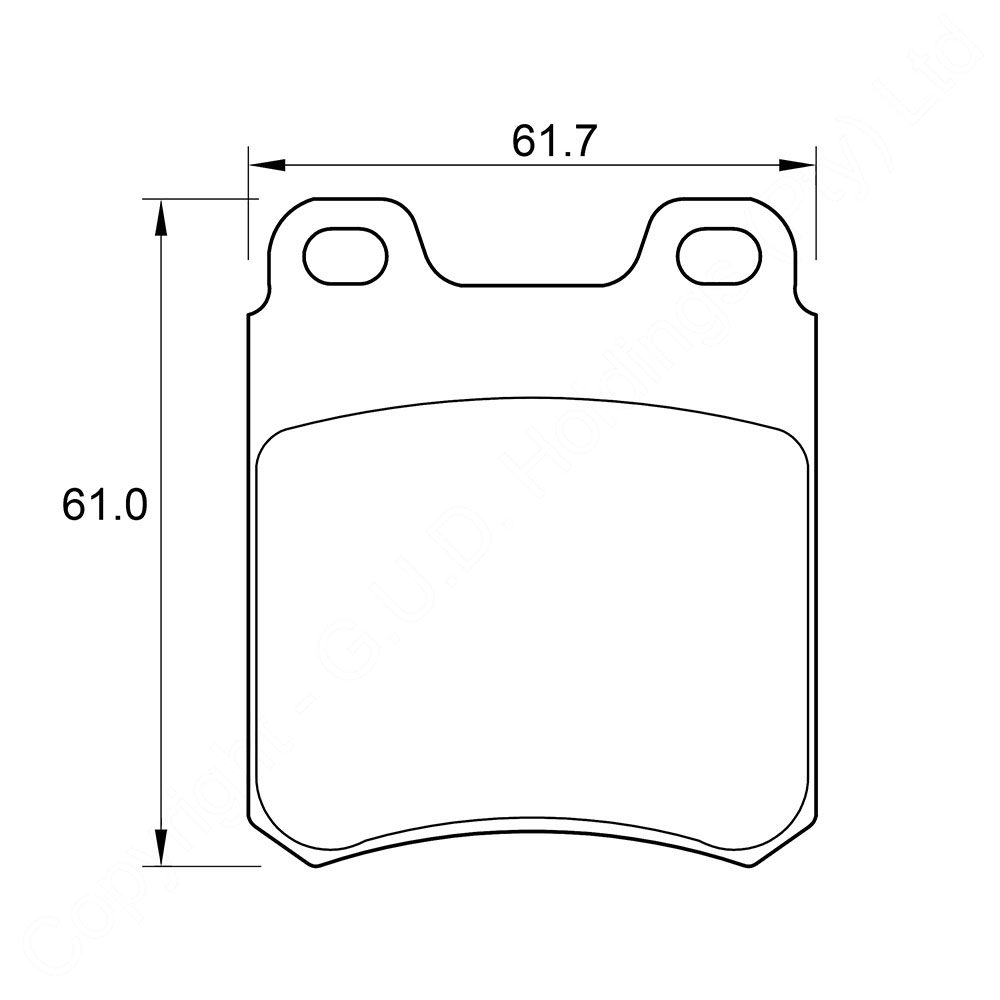 KBC Brake Pads (front) for Opel 1