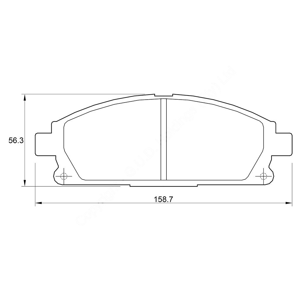 KBC Brake Pads (front) for Nissan X-Trail 1