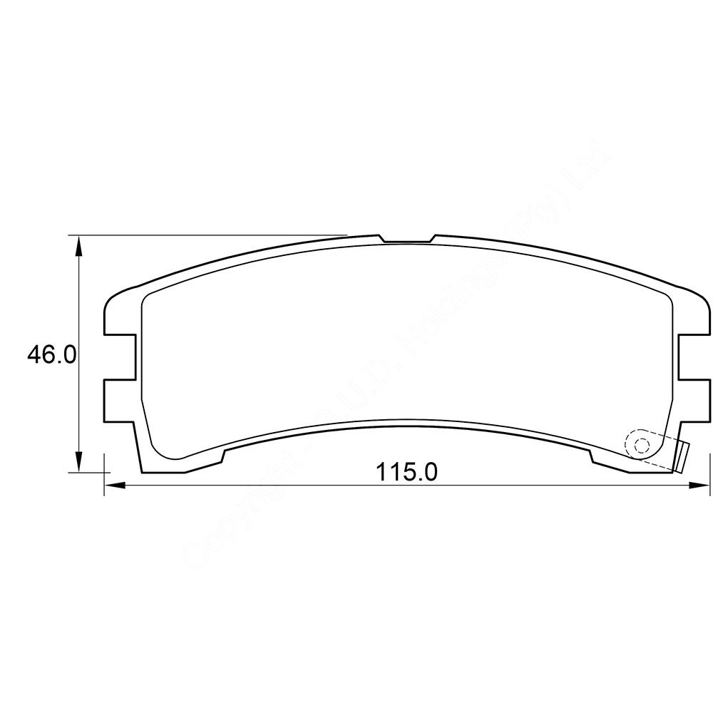 KBC Brake Pads (front) for Nissan Terrano 1