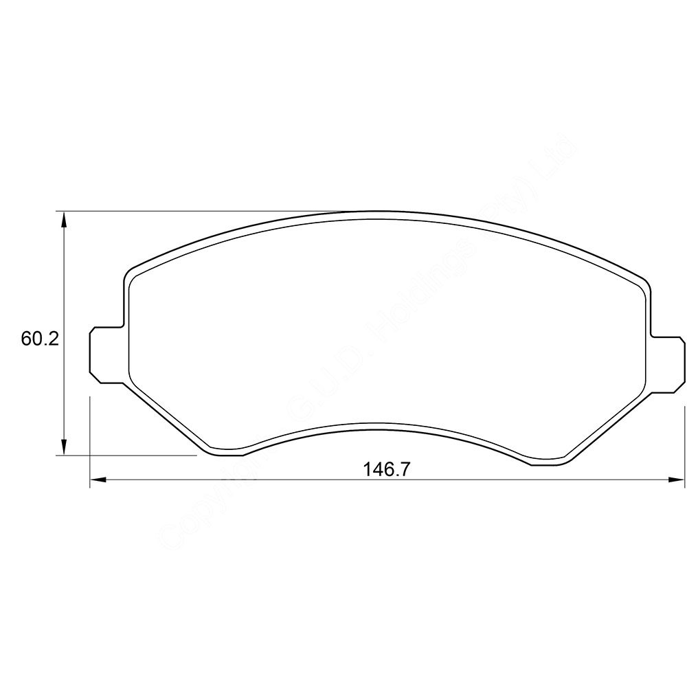 KBC Brake Pads (front) for Chrysler 1