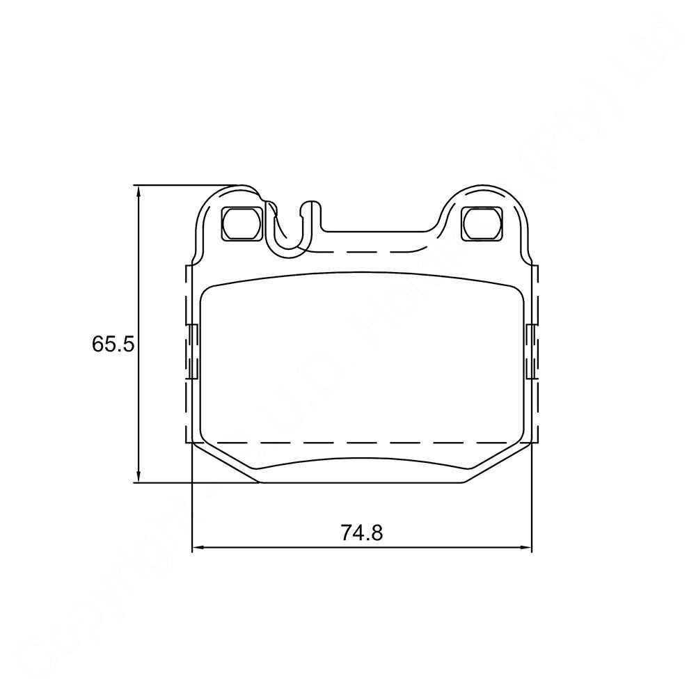 KBC Brake Pads (front) for Mercedes 1