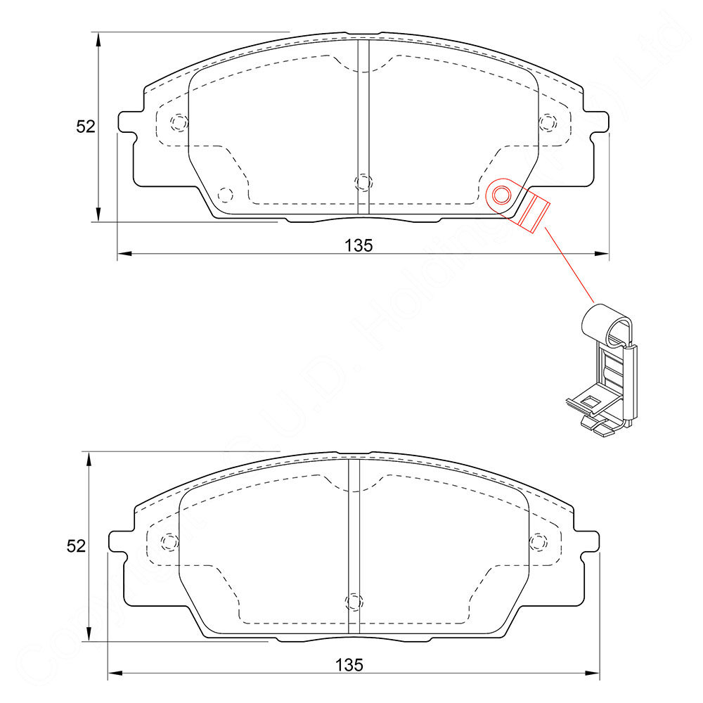KBC Brake Pads (front) for Honda 1
