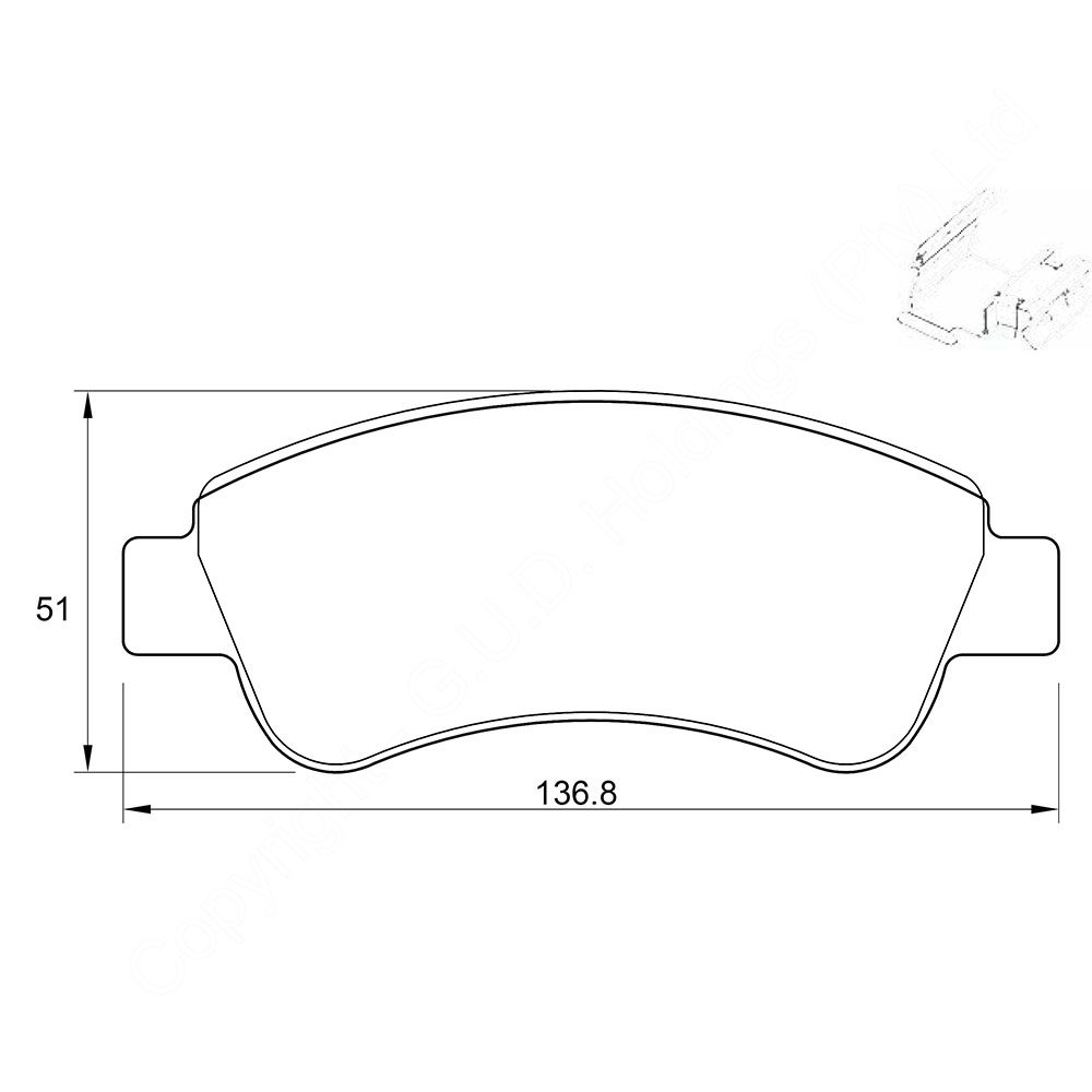 KBC Brake Pads (front) for Citroen Xsara 1