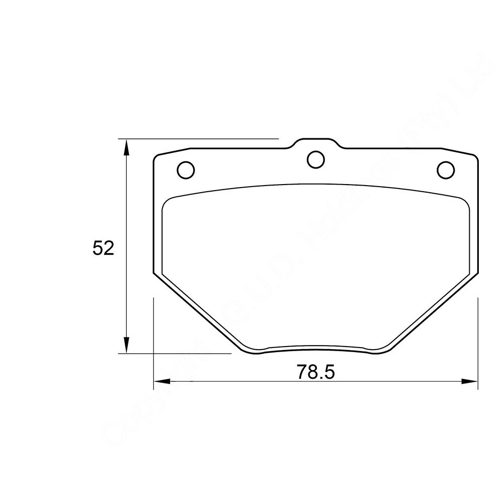 KBC Brake Pads (front) for Toyota Run 1