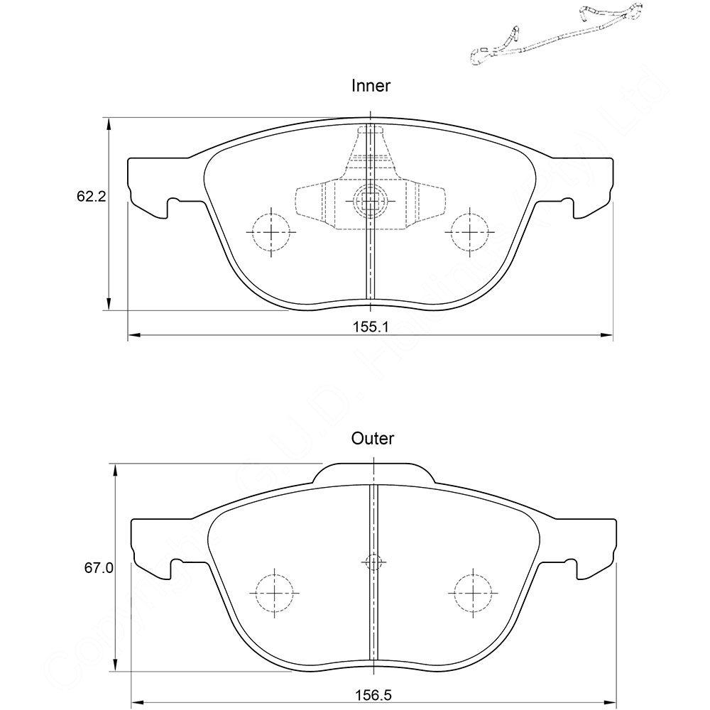 KBC Brake Pads (front) for Mazda,Ford Fiesta,Volvo 1