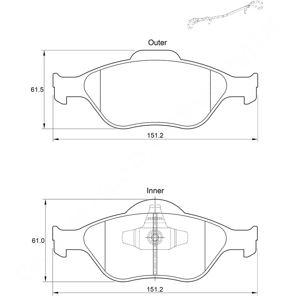 KBC Brake Pads (front) for Ford Fiesta 1