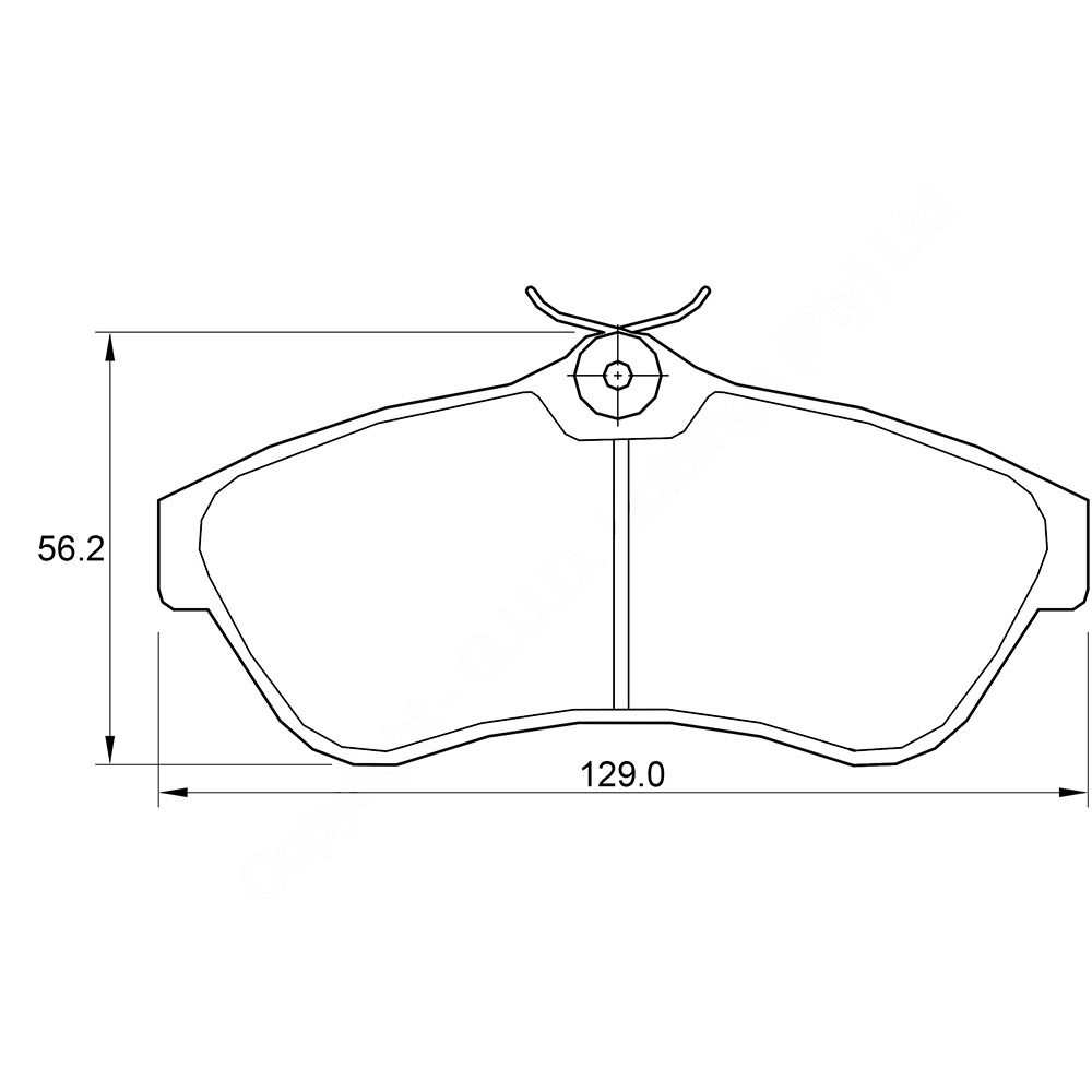 KBC Brake Pads (front) for Citroen 1