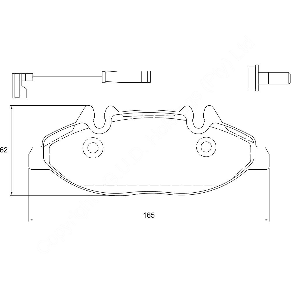 KBC Brake Pads (front) for Merc Benz 1