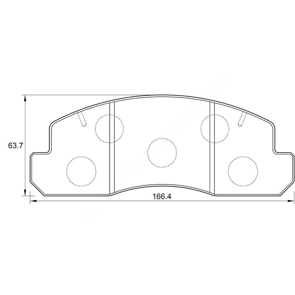 KBC Brake Pads (front) for Toyota Dyna 1