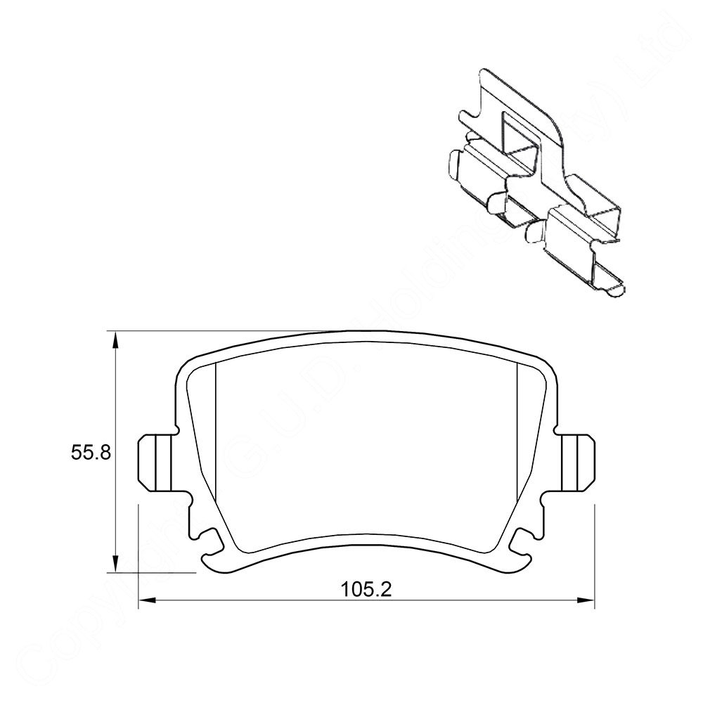 KBC Brake Pads (front) for VW Touran 1
