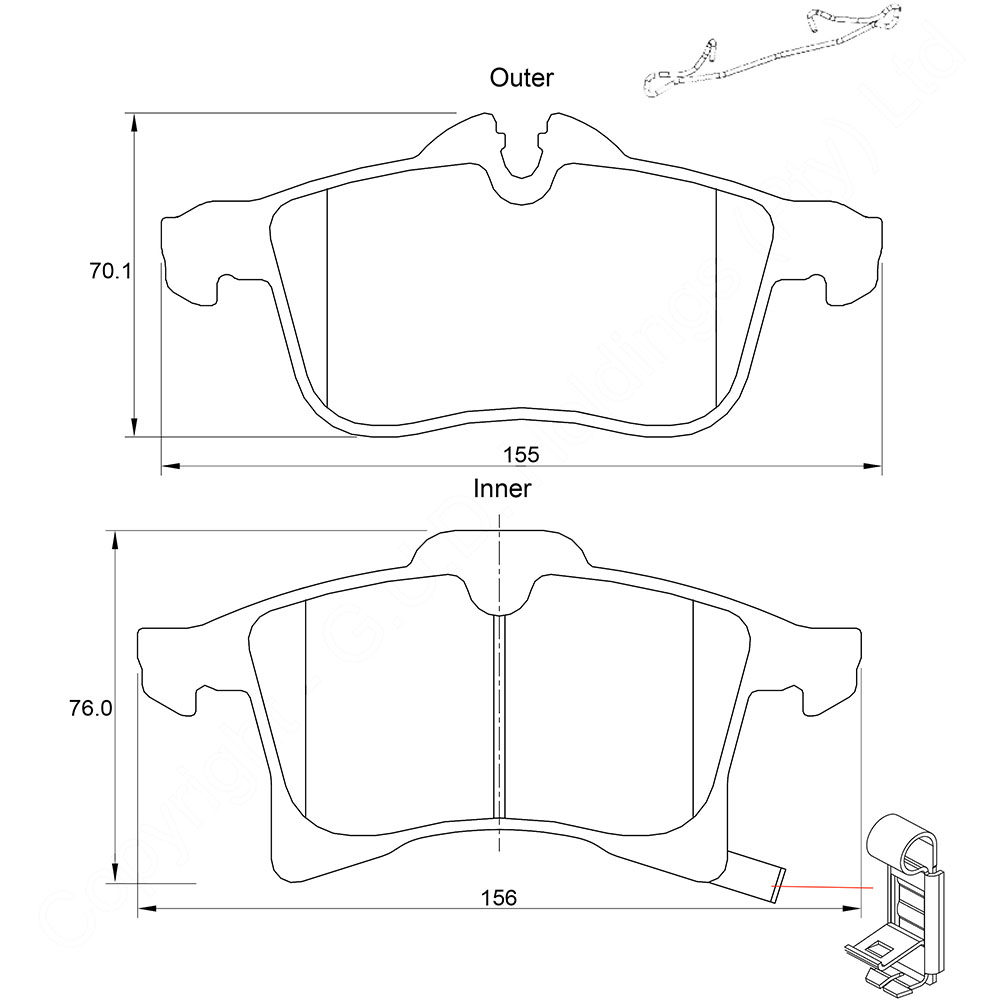 KBC Brake Pads (front) for Opel Corsa 1