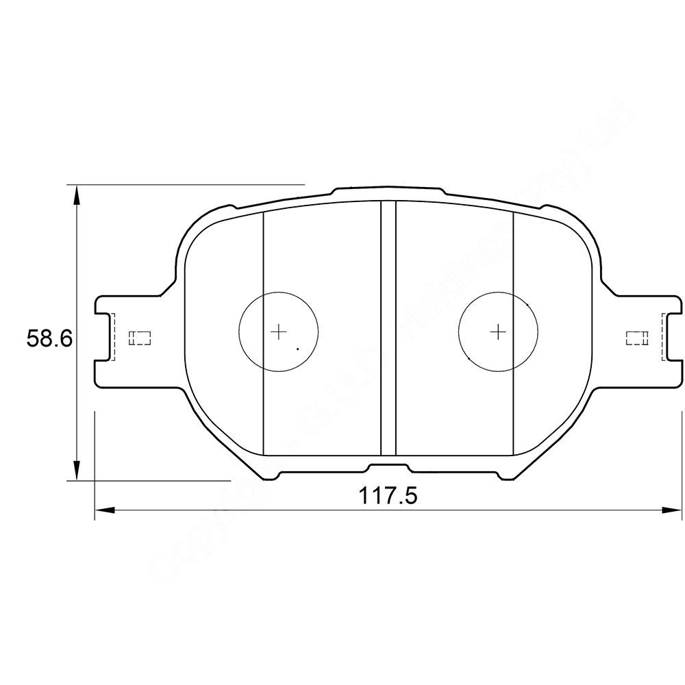 KBC Brake Pads (front) for Toyota Corolla Verso 1