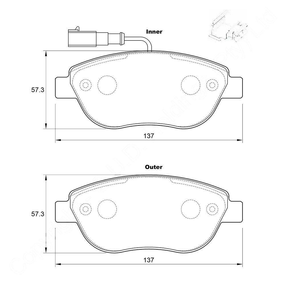 KBC Brake Pads (front) for Fiat Stilo 1