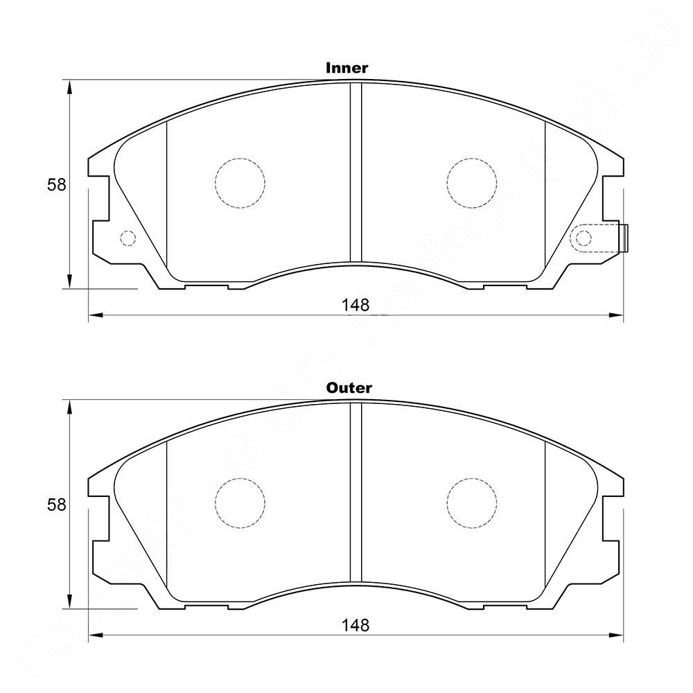 KBC Brake Pads (front) for Hyundai Teracan 1