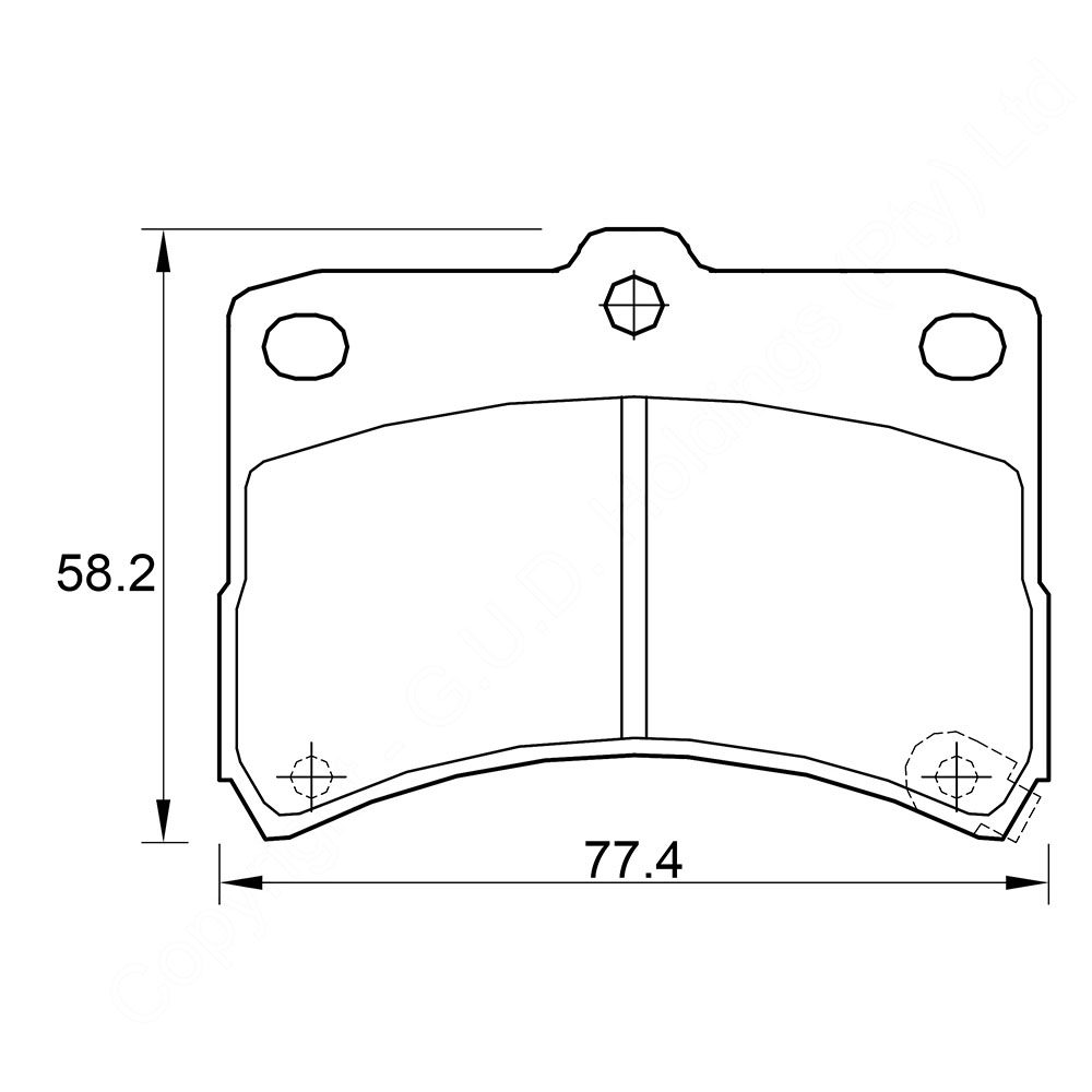 KBC Brake Pads (front) for Daihatsu Cuore 1