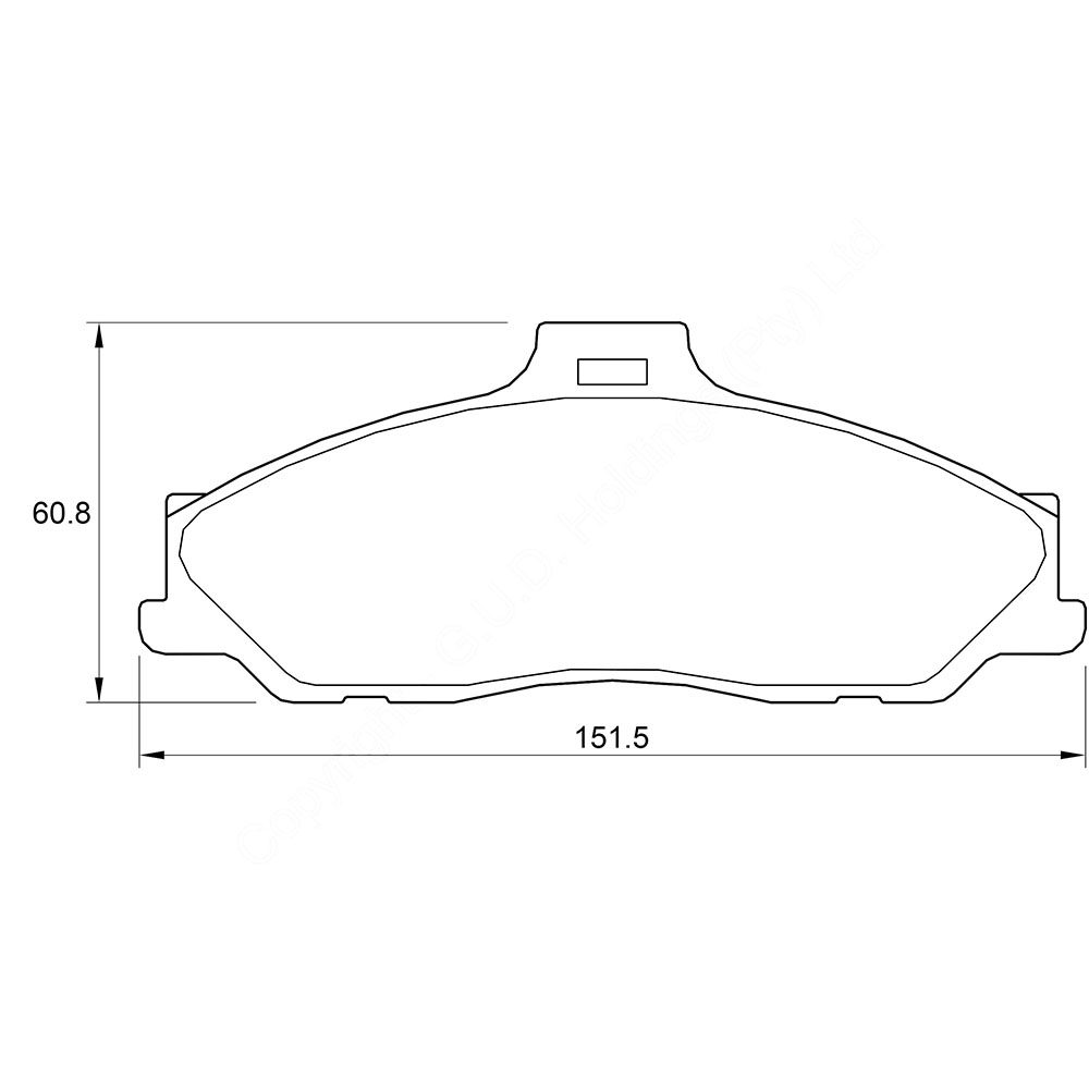 KBC Brake Pads (front) for Ford Ranger/ Mazda Series 1