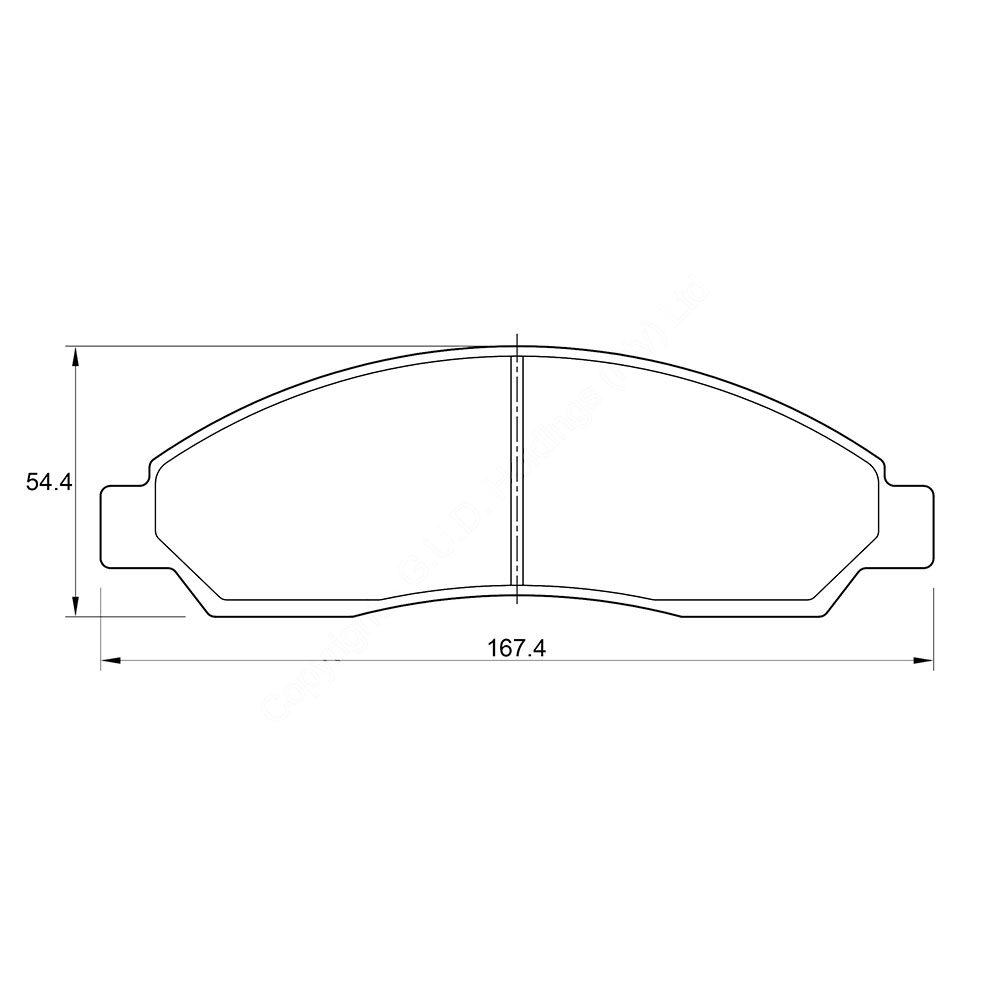 KBC Brake Pads (front) for Isuzu LDV 1