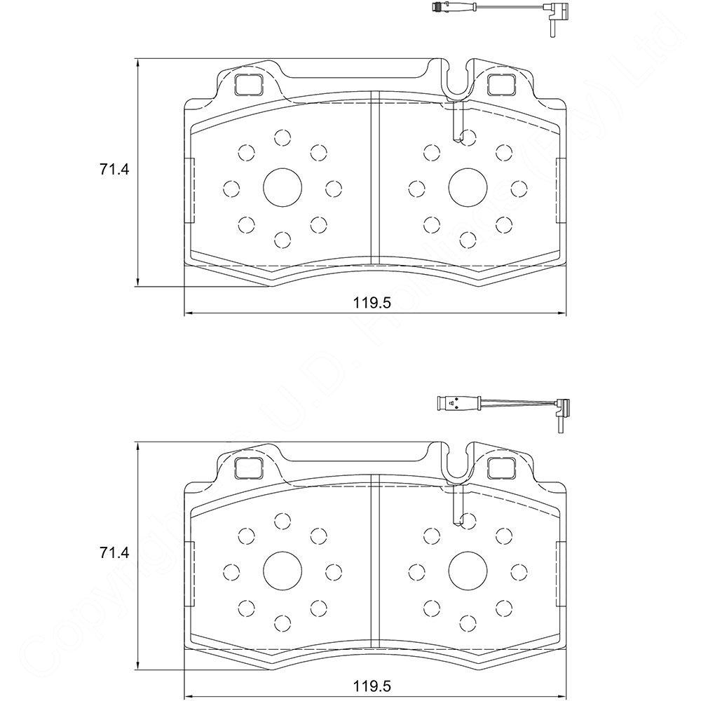 KBC Brake Pads (front) for Merc Benz 1