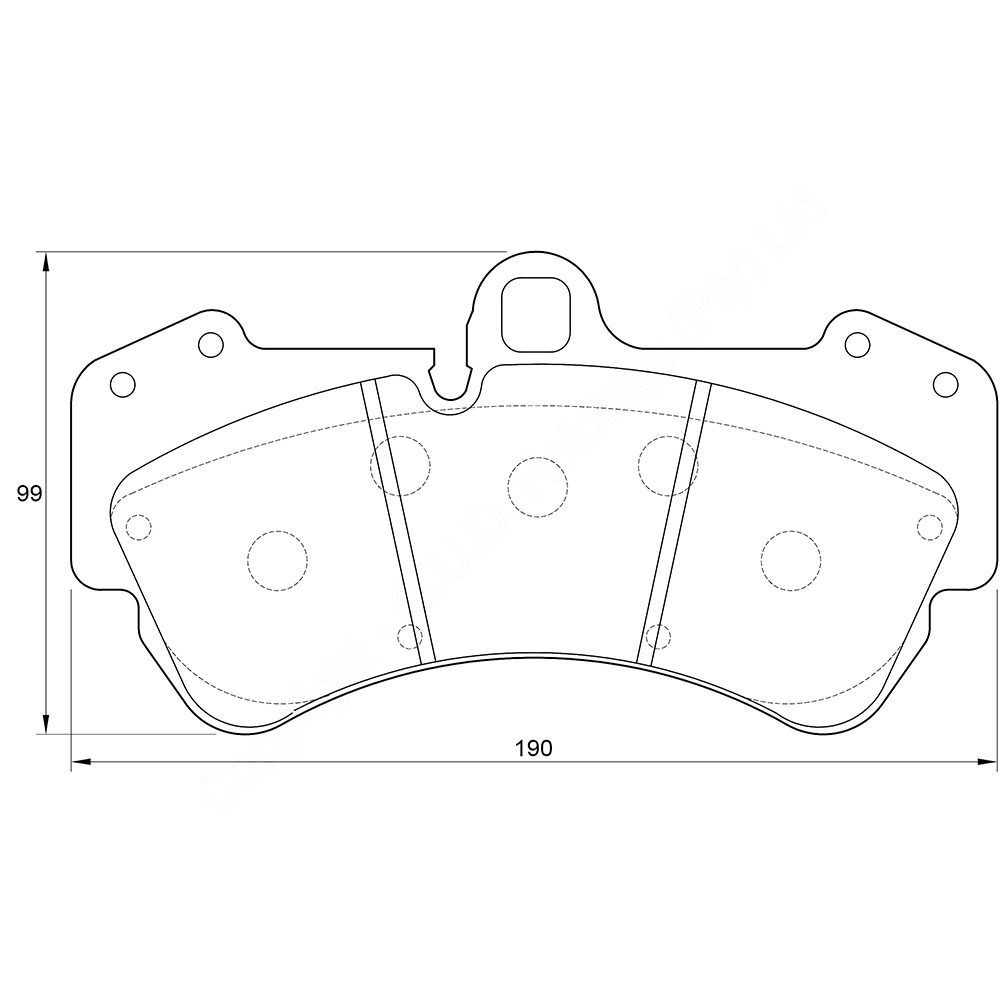 KBC Brake Pads (front) for VW Toureg 1