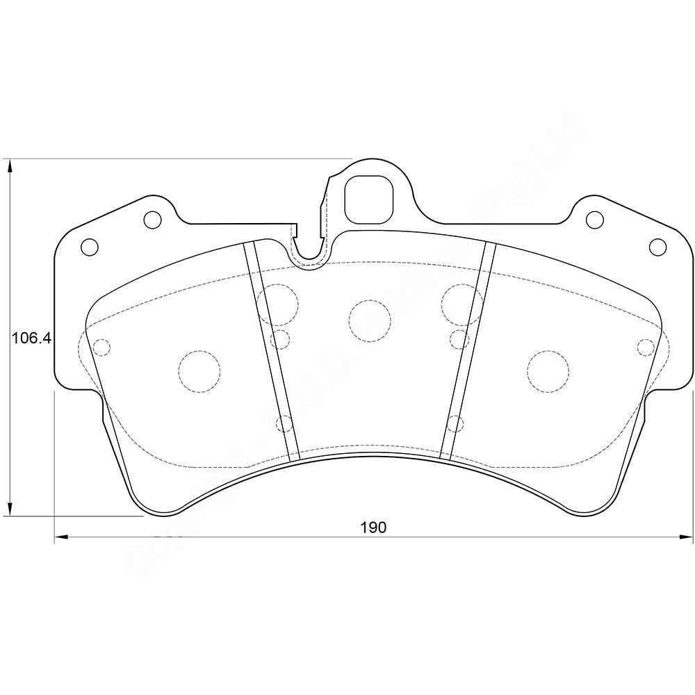 KBC Brake Pads (front) for VW Toureg 1