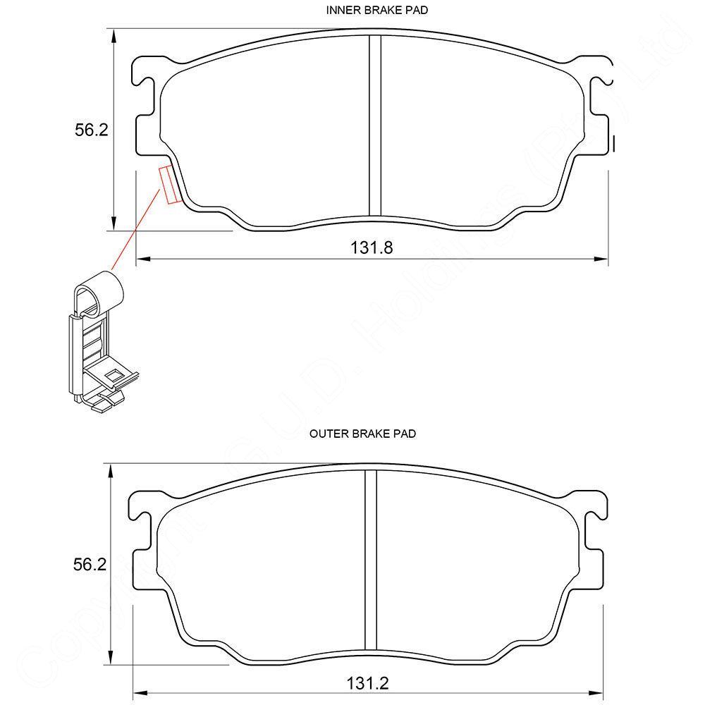 KBC Brake Pads (front) for,Mazda 1
