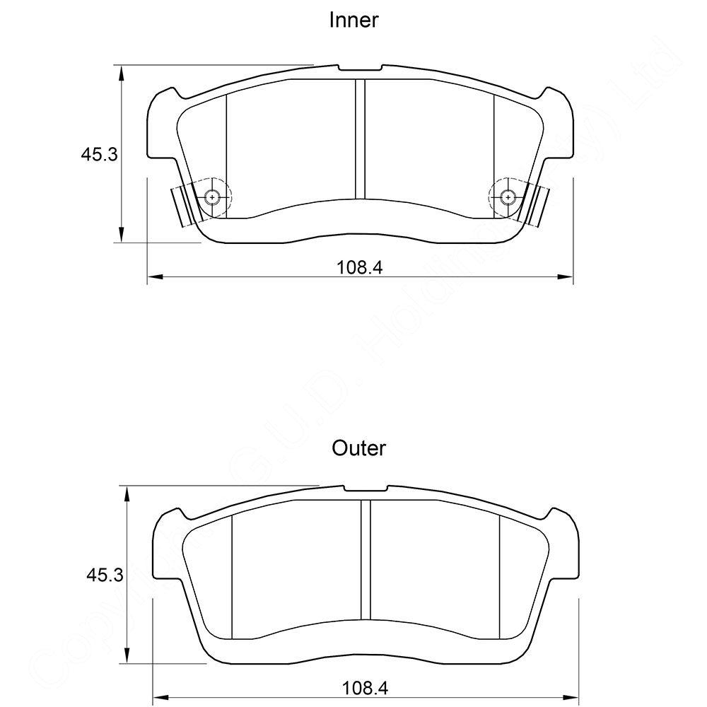 KBC Brake Pads (front) for,Daihatsu 1