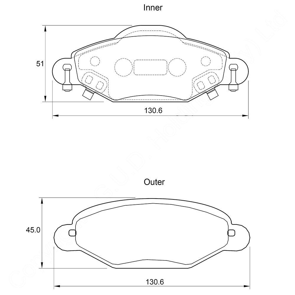 KBC Brake Pads (Front) for Toyota Yaris 1