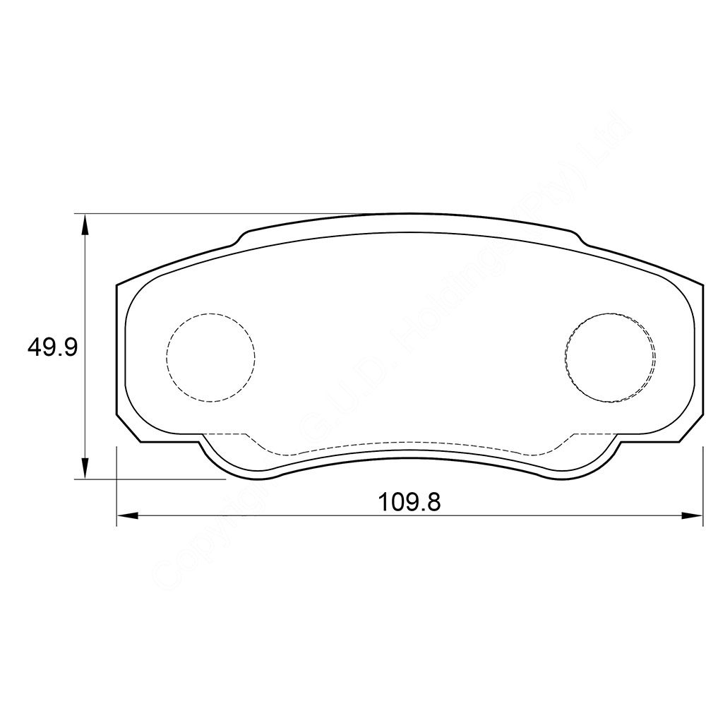 KBC Brake Pads (front) for,Fiat Ducato 1